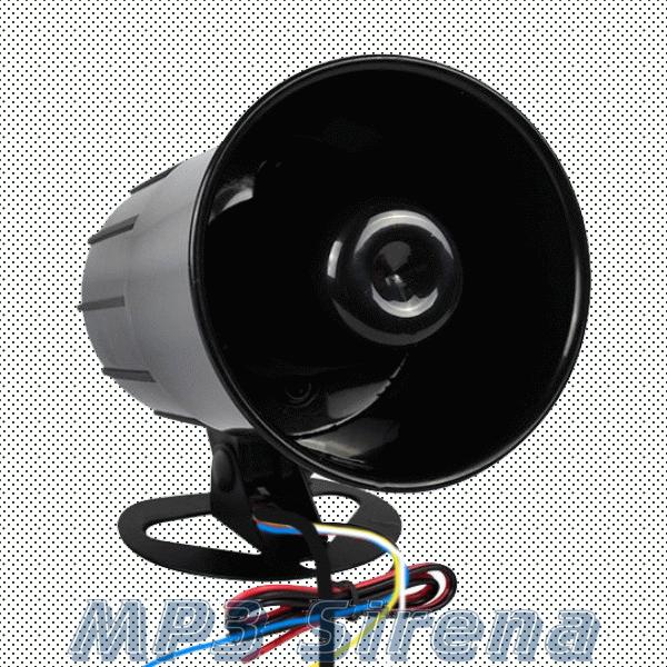 Музыкальная сирена MP3 для сигнализации